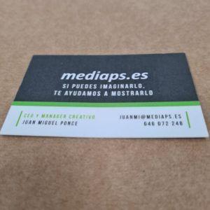 tarjeta de visita para clínica