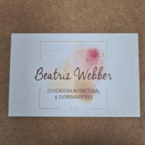 tarjeta de visita clásica