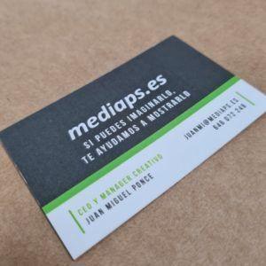 tarjeta de visita impresa a dos caras