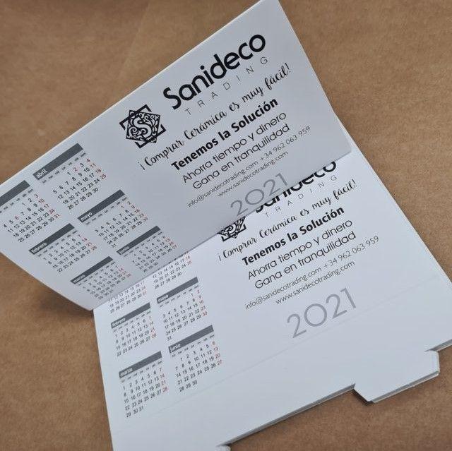 Calendarios blancos personalizados